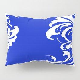 Damask Blue and White Pillow Sham