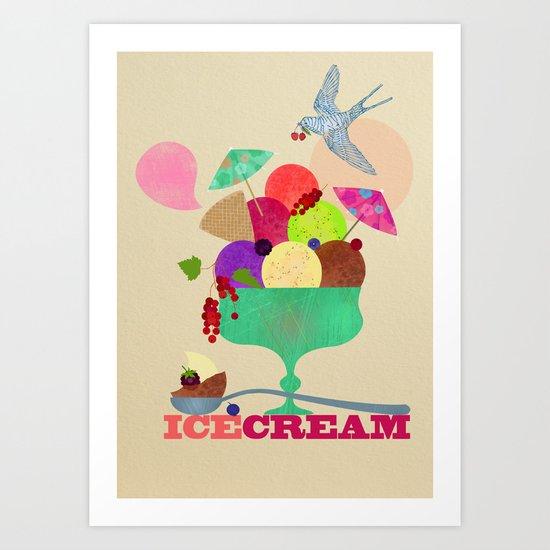 Icecream Bliss Art Print