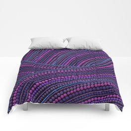 Dot Art Aboriginal Art Waves Purple Comforters