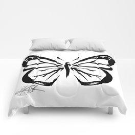 Brushstroke Butterfly No. 11 Comforters