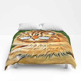 ORANGE TABBY CAT - Louis Wain's Cats Comforters