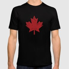 Maple Leaf Black X-LARGE Mens Fitted Tee