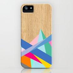 Geometric Color-Design in Wood Slim Case iPhone (5, 5s)