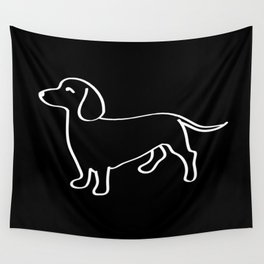 Doxie Love White Wall Tapestry