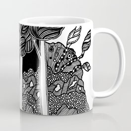 Mirkwood black and white doodle art Coffee Mug