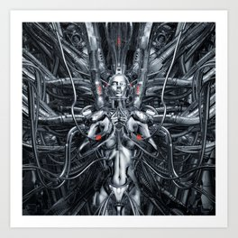 Maiden In The Machine Art Print