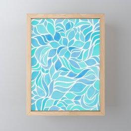 Press of Leaves - Ocean Blue Framed Mini Art Print