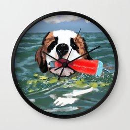 Sulley swims Georgian Bay Wall Clock