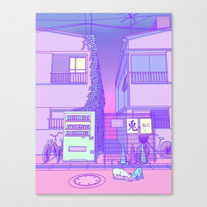 Pastel Tokyo Cats Leinwanddruck