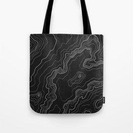 Black & White Topography map Tote Bag