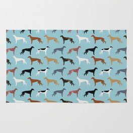 Greyhound Dog pet portrait dog lover must have gifts perfect christmas present for dog person Rug