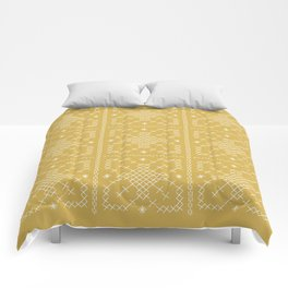 Embroided Tumeric Tapestry Comforters