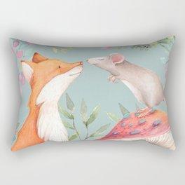 Fox & mouse Rectangular Pillow