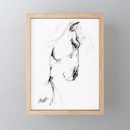 Horse ink art Framed Mini Art Print