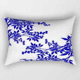 BLUE AND WHITE  TOILE LEAF Rectangular Pillow