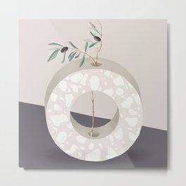 Vase O Olive Metal Print