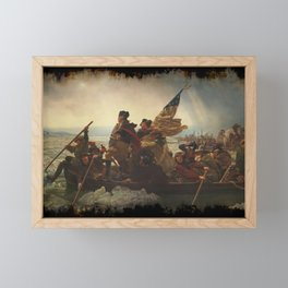 Washington Crossing the Delaware Framed Mini Art Print