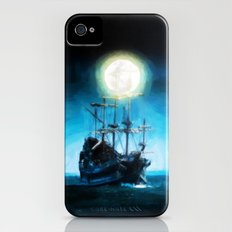 The Flying Dutchman Under The Moon - Painting Style iPhone (4, 4s) Slim Case