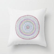 Mandala Smile B Throw Pillow