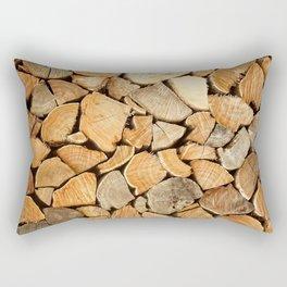 natural wood Rectangular Pillow