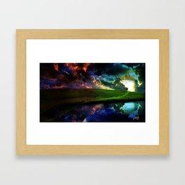 Moody Sunset Framed Art Print