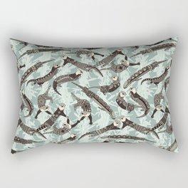 sea otters silver Rectangular Pillow