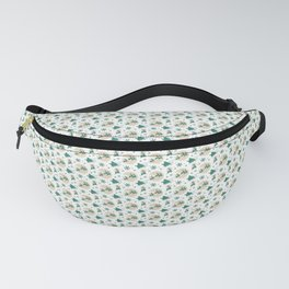 Green Santa And Reindeer Christmas Pattern Fanny Pack