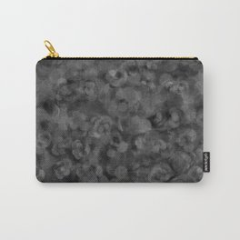 Dark Charcoal Gray and Light Grey Abstract Carry-All Pouch