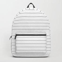 White And Black Pinstripe Line Stripe Minimalist Stripes Lines Backpack