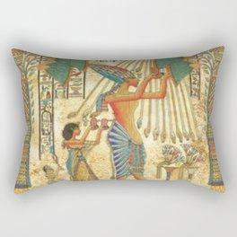 egyptian man sun god ra amun Rectangular Pillow