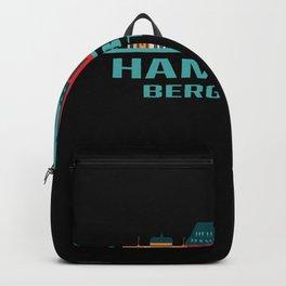 Hamburg Bergstedt Germany Skyline Backpack