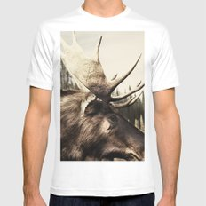 Tom Feiler Moose Mens Fitted Tee MEDIUM White