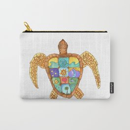 Sunny Sea Turtle Carry-All Pouch