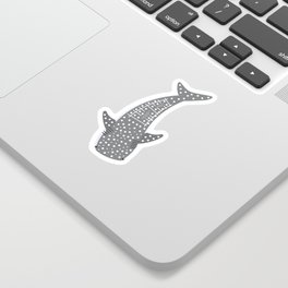 Swimming Whale Shark Sticker