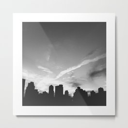 BLACK CITY SKY Metal Print