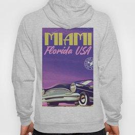 Miami Florida vintage travel poster Hoody