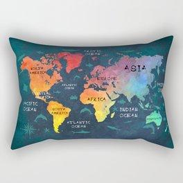 world map 49 color Rectangular Pillow