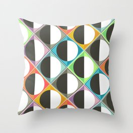 eclipse diamonds Throw Pillow
