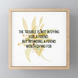 Finding a friend - Mark Twain Collection Framed Mini Art Print