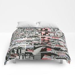 Click-N-Fail (P/D3 Glitch Collage Studies) Comforters