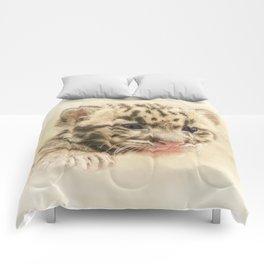 CUTE CLOUDED LEOPARD CUB Comforters