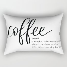 Coffee Quote Definition Rectangular Pillow