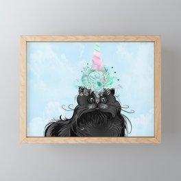 Niya's Caticorn Framed Mini Art Print