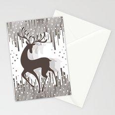 Dancing Deer - Black & White Stationery Cards