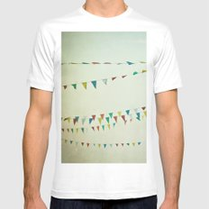 Oh Happy Day MEDIUM White Mens Fitted Tee