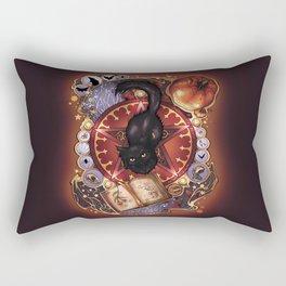 Black Cat Magic Rectangular Pillow