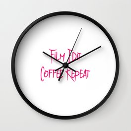 Film Edit Coffee Fun Film School Quote Wall Clock