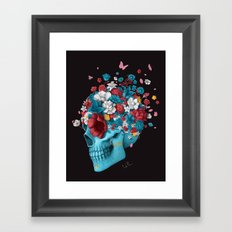 Skull Life Black Framed Art Print