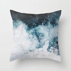 Blue Swells Throw Pillow