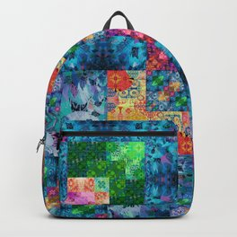 High Definition Geometric Quilt 1 Backpack